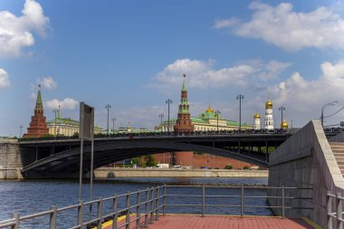 View of the Kremlin and Moskva River, Moscow, Russia--the most popular view of Moscow