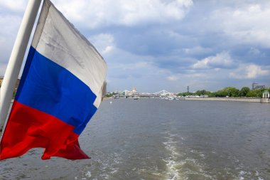 Moskva River and embankments (view from tourist pleasure boat).