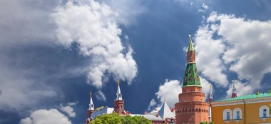 View of the Kremlin on a cloud background, Moscow, Russia--the most popular view of Moscow