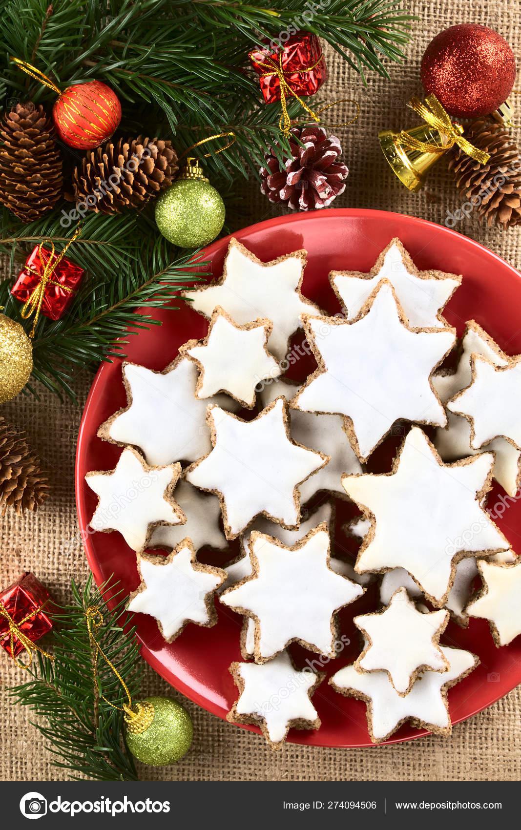 Traditional German Zimtsterne Cinnamon Stars Christmas Cookies Made