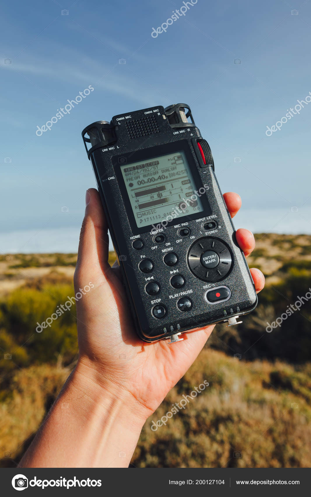Portable Audio Recorder Hand Field Recording Ambient Sounds