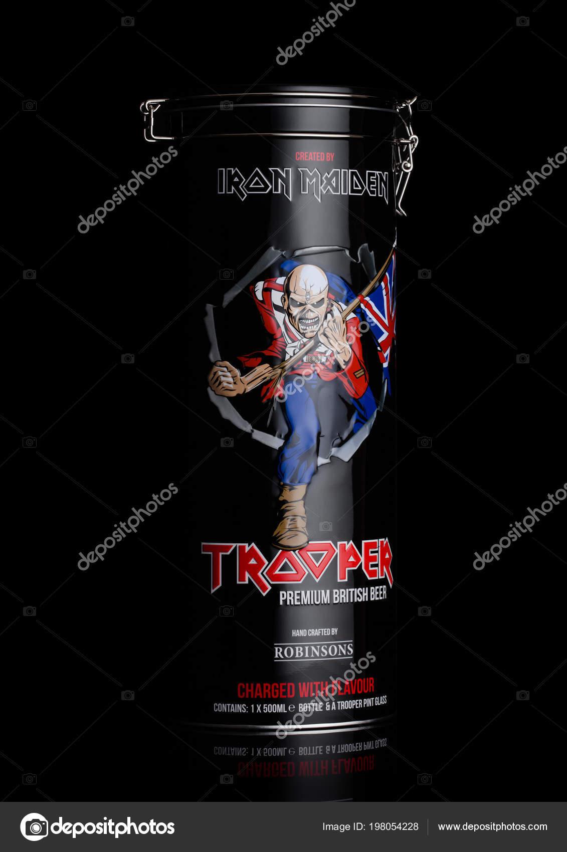 London June 2018 Gift Steel Tube Trooper Premium British Beer Stock Photo