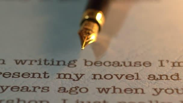 Fountain pen on publishing letter