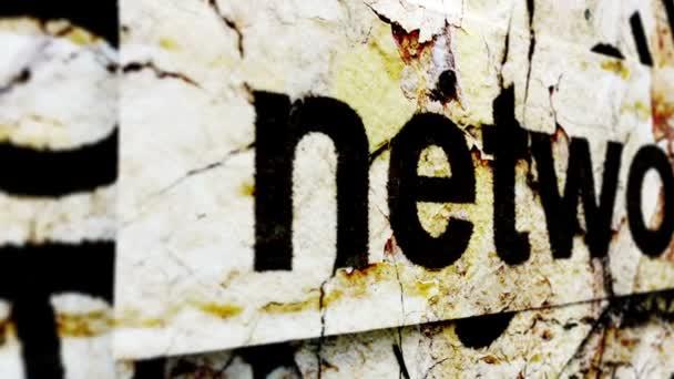 Network text grunge concept
