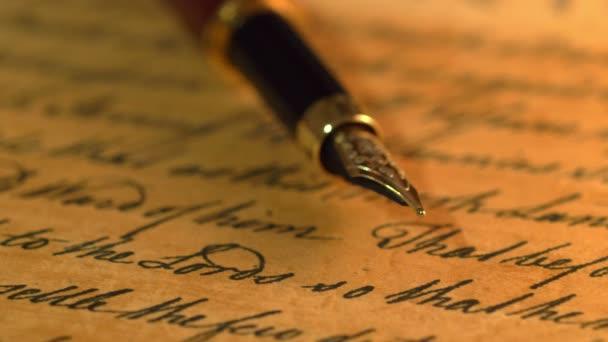 Fountain pen on letter