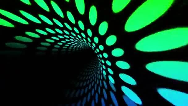 Barevné kruhy tunelu koncept