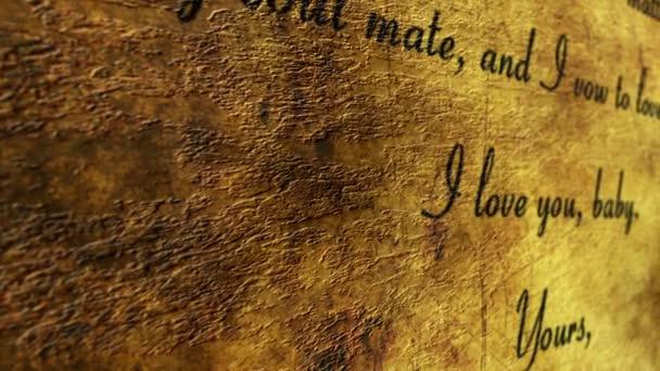 Love letter on grunge background