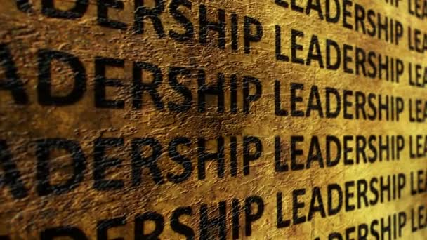 Leadership text on grunge background