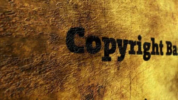 Copyright basis grunge concept