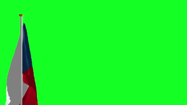 Czech flag on green screen