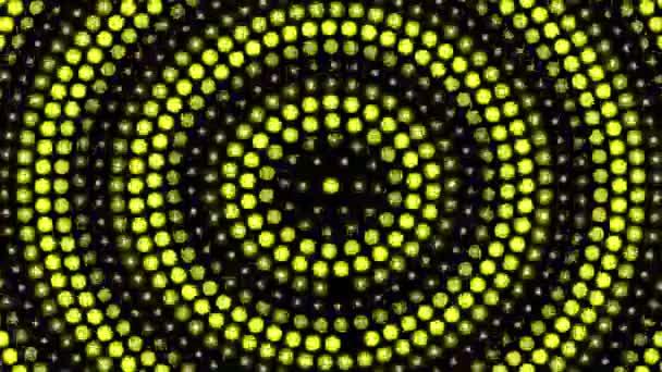 Abstraktní pozadí se žlutým otáčí tečky