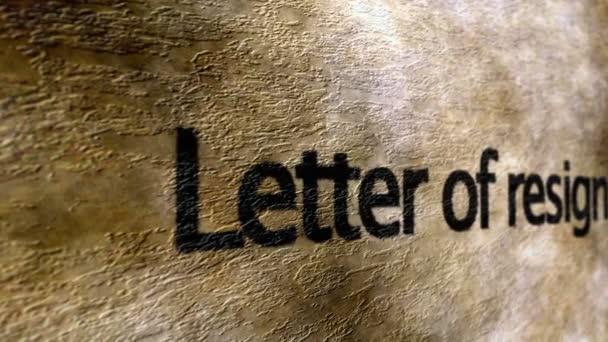 Letter of resignation grunge background