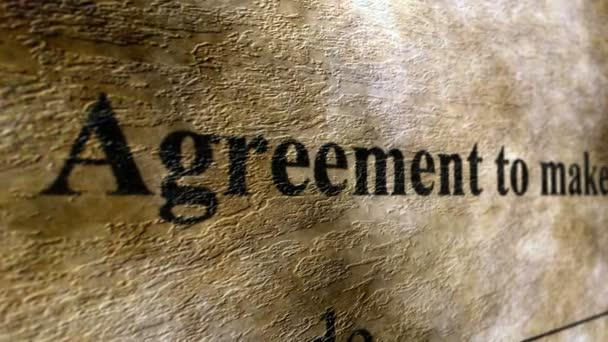 Agreement to make lease