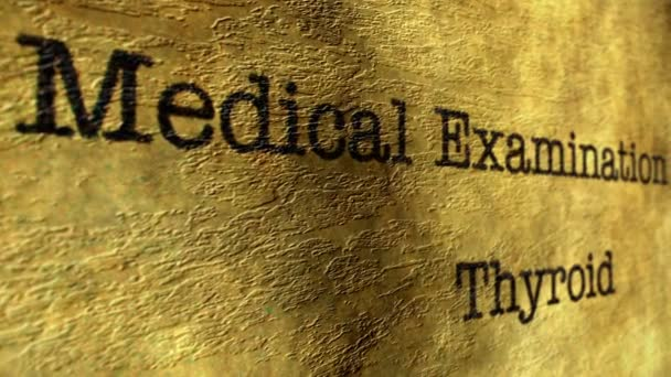 Medical examination report thyroid
