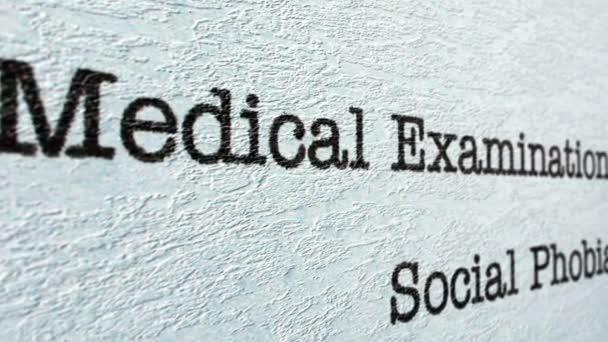 Social phobia medical report