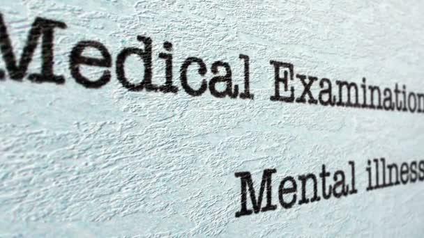 Mentális betegségek orvosi jelentés