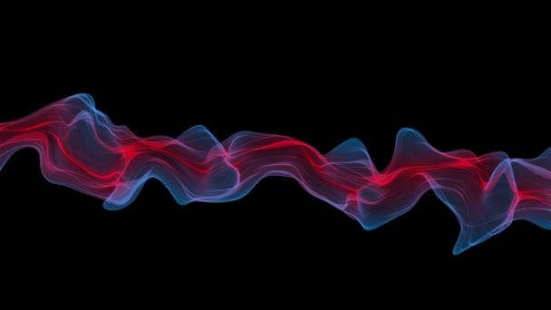 Abstraktní Digital Wave a kouře toku pozadí