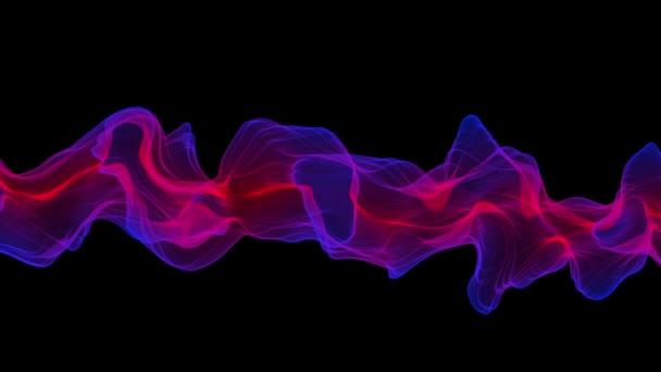 Abstraktní Digital Wave a kouř toku