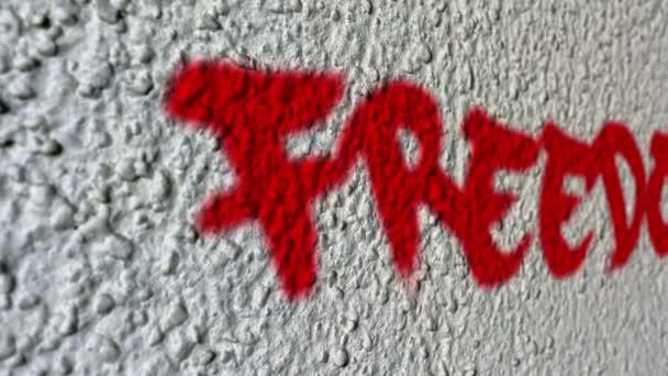 Svoboda zeď umění Graffiti