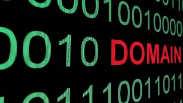 Text domény přes binární datový koncept