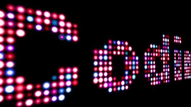 Színes, LED-es szöveg feketére kódolása