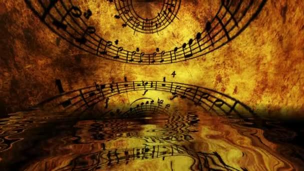 Hudební list odrážející se ve vodě