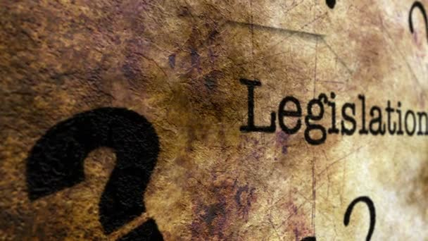 Legislativa grunge koncept