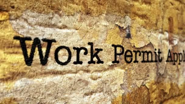 Koncept grunge pracovního povolení