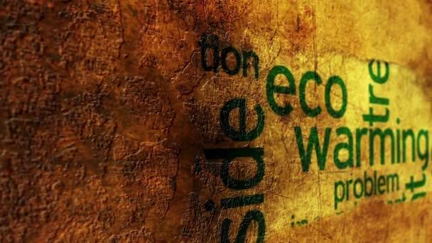 Eco oteplování grunge koncept