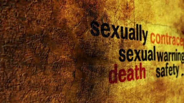 Szexuális úton terjedő betegség grunge koncepció