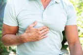 Photo Midsection View Of A Man Having Acid Reflux Pain