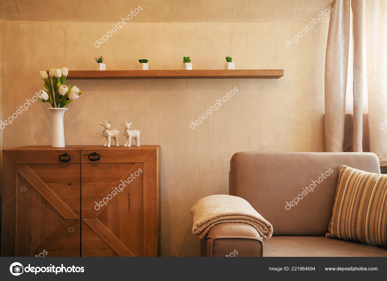 Klein Appartement Inrichting : Interieur van een klein appartement meubilair inrichting u2014 stockfoto