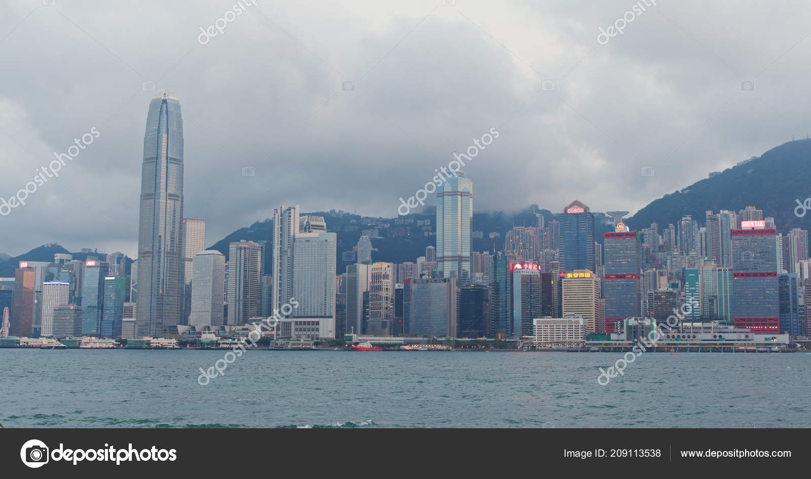 Port Victoria Hong Kong Avril 2018 Skyline Hong Kong Photo