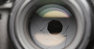 Professional lens camera aperture
