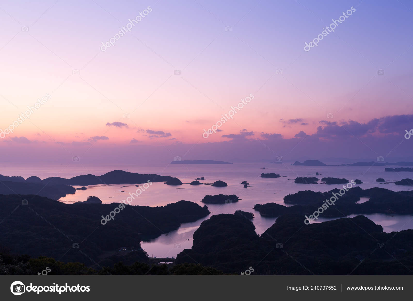 Kujuku Islands Sunset Japan Stock Photo C Leungchopan 210797552