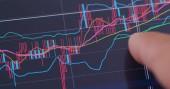 Fotografie Digitální tabletu počítače zobrazeno akciového trhu diagramu