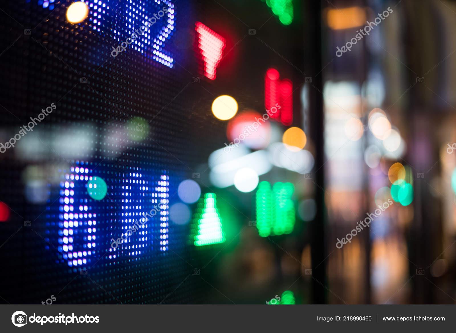 Display Stock Market Quotes City Night Stock Photo Leungchopan