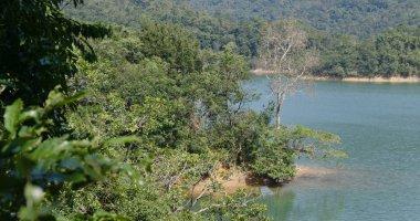 Beautiful lake pond view