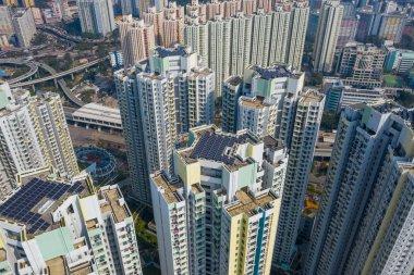 Kowloon Bay, Hong Kong - 26 January, 2019: Top view of Hong Kong city