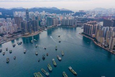 Tsuen Wan, Hong Kong - 12 February, 2019: Hong Kong city stock vector