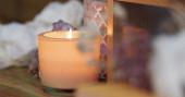 Aroma gyertya dekoráció otthon