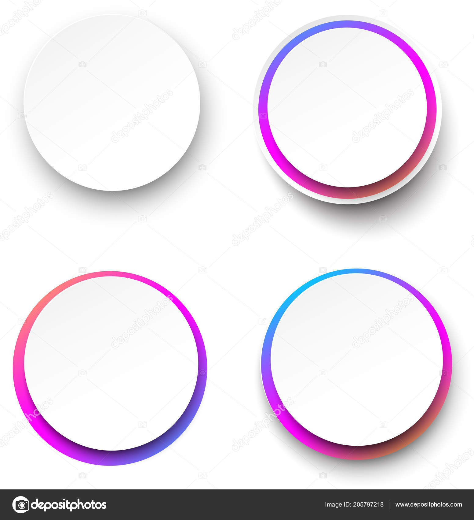 set white background templates colorful spectrum frame vector paper