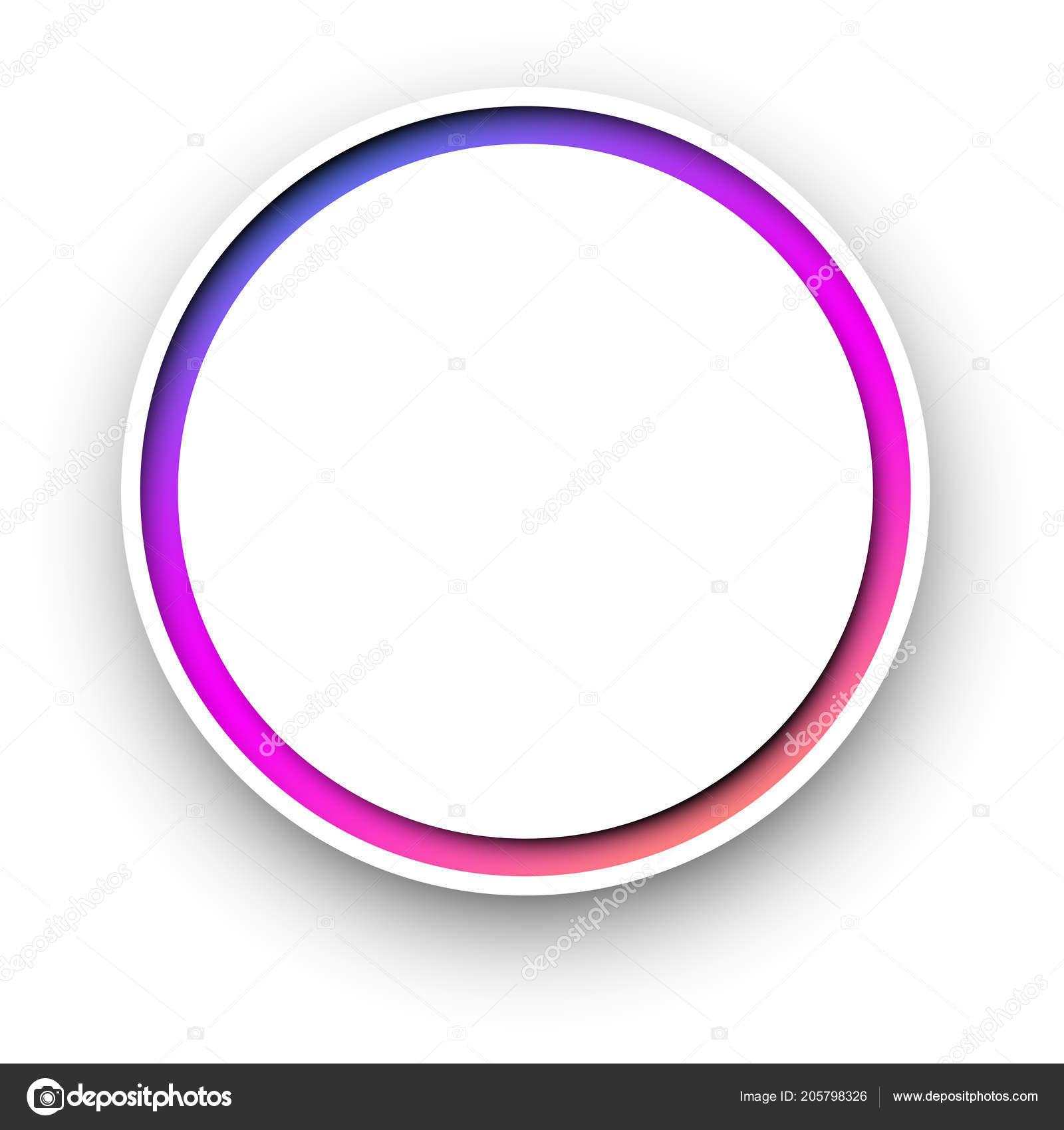 Modello Sfondo Bianco Rotondo Con Cornice Spettro Colorato