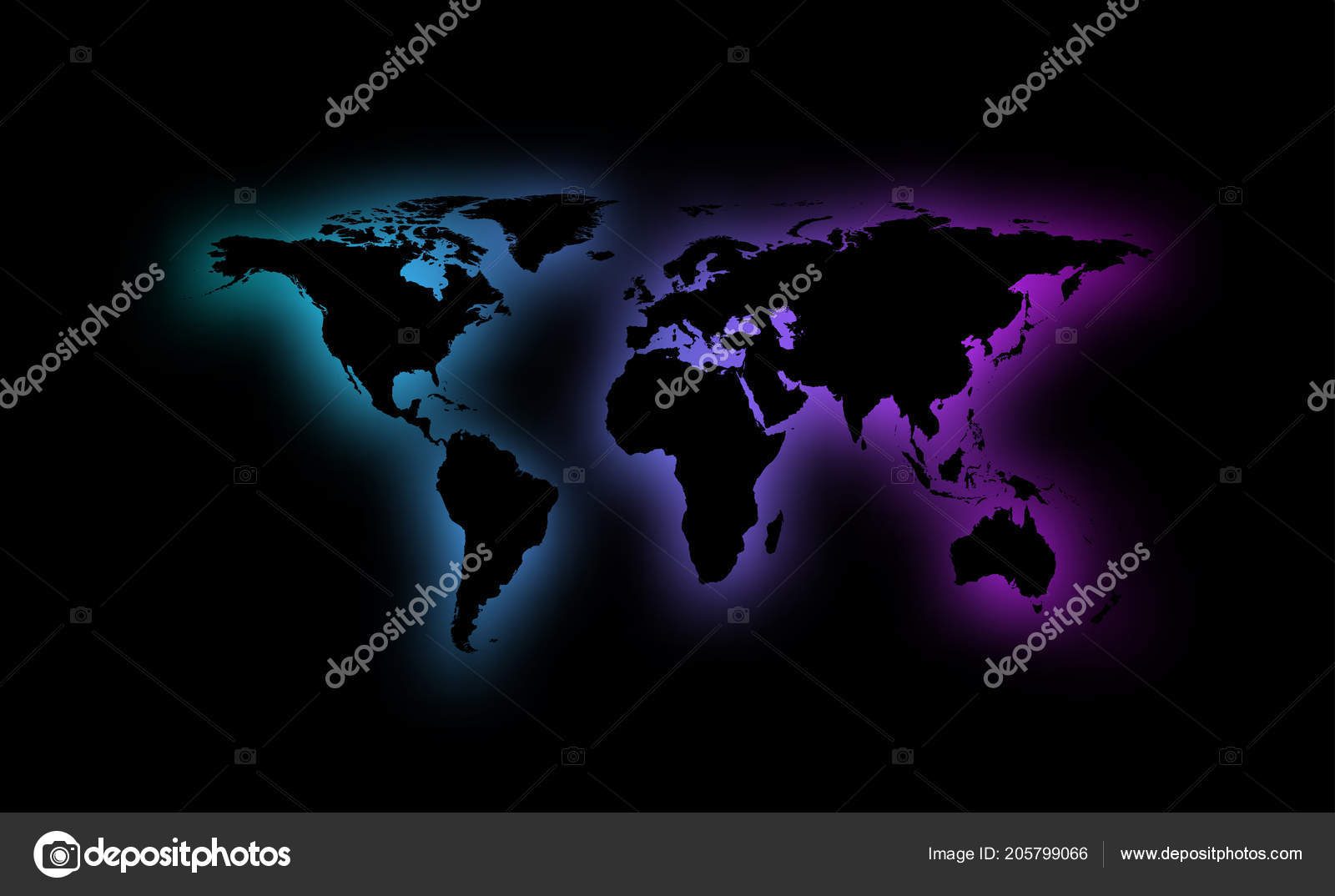 Colorful abstract world map silhouette black background vector colorful abstract world map silhouette black background vector illustration stock vector gumiabroncs Image collections