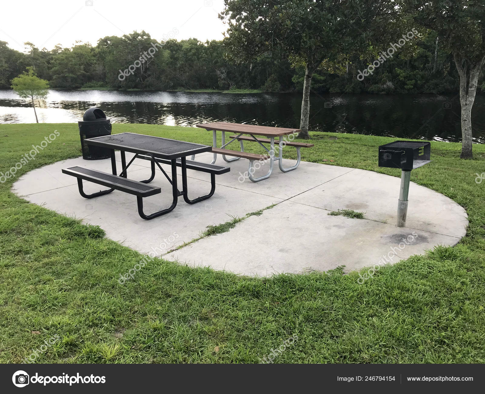 Cool Picnic Tables Benches And Grill In Park Photo Image Stock Caraccident5 Cool Chair Designs And Ideas Caraccident5Info