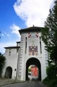 Lindauer Tor Memmingen ist eine Stadt mit vielen historischen Sehenswürdigkeiten in Bayern/Deutschland