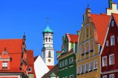Fotografie Sankt Martinskirche Memmingen ist eine Stadt in Bayern mit vielen historischen Sehenswürdigkeiten