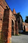 Fotografie Bettelturm von innen Memmingen ist eine Stadt in Bayern mit vielen historischen Sehenswürdigkeiten