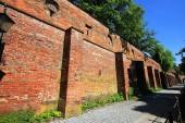 Fotografie historische stadtmauer memmingen ist eine Stadt in Bayern mit vielen historischen Sehenswürdigkeiten
