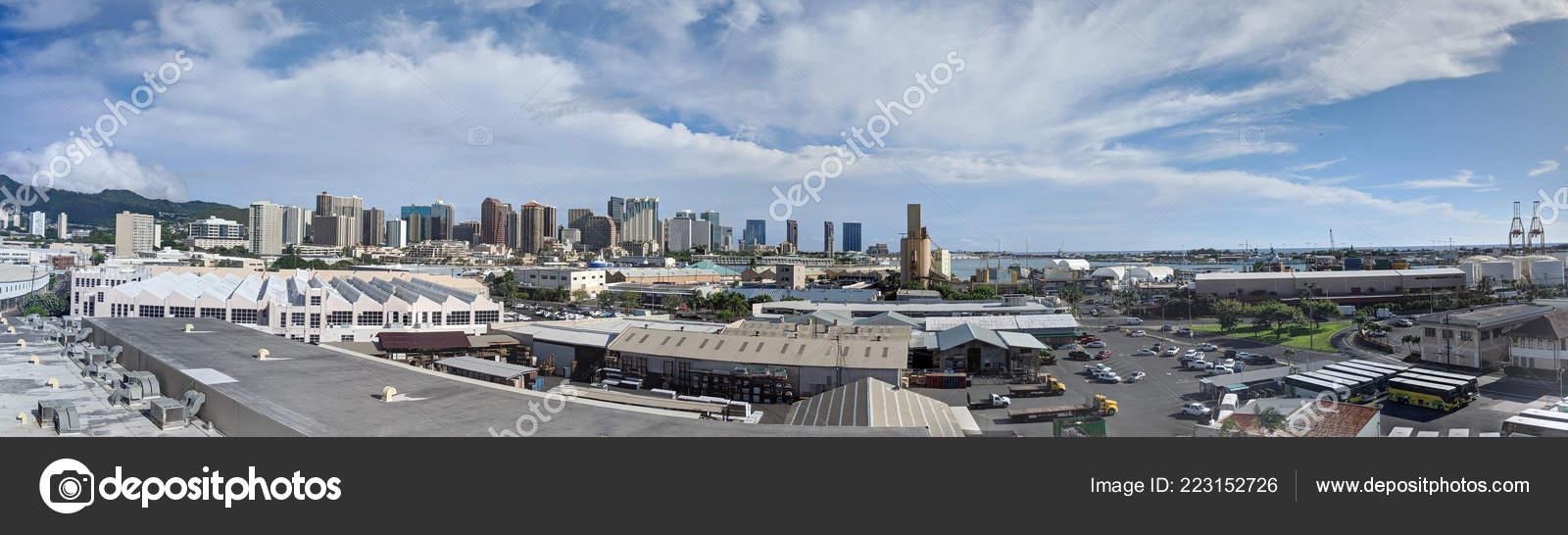 Port Of Honolulu >> Honolulu October 18th 2018 Aerial View Honolulu Port Downtown